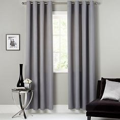 Buy Silver John Lewis & Partners Contour Pair Lined Eyelet Curtains, x Drop from our Ready Made Curtains & Voiles range at John Lewis & Partners. John Lewis Ready Made Curtains, John Lewis Retail, Blue Gray Bedroom, Living Area, Living Room, Pleated Curtains, Soft Furnishings, Bedroom Decor, Master Bedroom