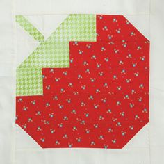 Summer Strawberry quilt block designed by Konda Luckau for Quiltmaker's 100 Blocks Vol. 13 -- see more blocks on our 100 Blocks Vol. 13 Blog Tour!