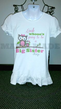 Personalized Big Sister Owl shirt Sister Owl Lil by mamamadebows