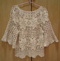 Crochet Tunic Pattern, Crochet Stitches Patterns, Crochet Cardigan, Top Pattern, Crochet Lace, Crochet Waffle Stitch, Finger Crochet, Crochet Fashion, Beautiful Crochet