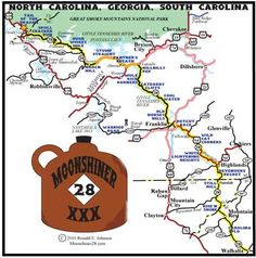 Moonshiner 28 from Tail of the Dragon at Deals Gap to Walhalla SC @jorgenbot01 @txpaynes