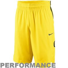 Nike Oregon Ducks Authentic Basketball Performance Shorts - Yellow