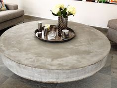 Runt soffbord 140 cm i diameter Concrete Coffee Table, House Styles, Pergola, Room, Furniture, Google, Inspiration, Home Decor, Fashion