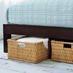 Gotta love under the bed storage- nice way to hide all the clutter (but in a very neat way).