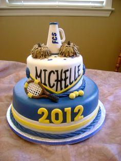 Cheerleader and Graduation Cake