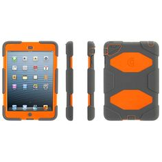 Griffin Survivor Case for Apple iPad mini, Gray/Orange