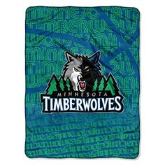 NBA Minnesota Timberwolves Redux Micro Raschel Throw Blue 46 x 60 * To view further for this item, visit the image link.
