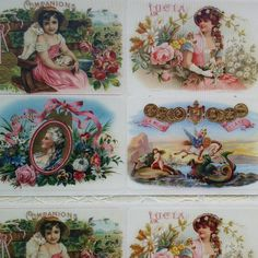 These lovely stickers are reproduced from Victorian era cigar box labels. Many more fine stickers in the shop.