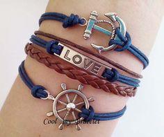 Anchor the rudder love friendship bracelets by Coolmybracelet, $3.99