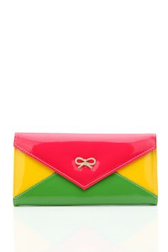 Patent PVC Colour Panel Purse @ Everything5pounds.com