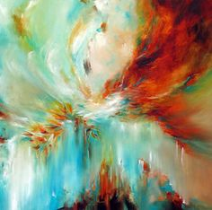 Abstract painting by Alison Johnson