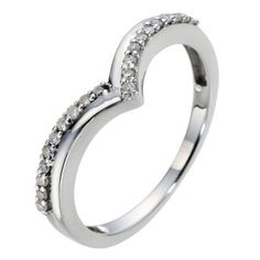 9ct White Gold Wishbone Diamond Ring- H. Samuel the Jeweller