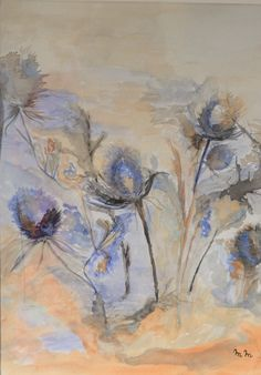 """Thistles""   watercolor by Maria Mendonça"