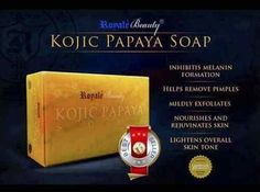 Kojic Papaya Soap - Lightens the skin by inhibiting melanin formation. With its complete combination of active ingredients, kojic papaya soap helps remove pimples, mildly exfoliates, nourishes and rejuvenates the skin & lightens overall skin tone. Papaya Soap, Skin Whitening Soap, Dark Spots On Face, How To Remove Pimples, 3d Mesh, Lighten Skin, Prevent Wrinkles, Combination Skin, Active Ingredient