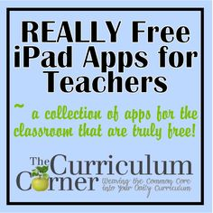 iPad Apps for the Classroom really free ipad apps for teachers.hmm This is definitely worth looking into!really free ipad apps for teachers.hmm This is definitely worth looking into! Teaching Technology, Teaching Tools, Educational Technology, Teaching Ideas, Technology Integration, Educational Websites, Apps For Teachers, Teacher Resources, Teacher Apps