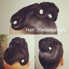 Hair: 10edancestyle #hair #updo #dance #hairdecoration #ballroom #hairdressing #dancesport #dancehair #competitions #dancesporthair #dancesport #ballroomworld #ballroomhair #ballroomhairstyle #hairstylist #hairstyle #stones #swarovski #lotsofhairspray #Standard #nadb #wdsf
