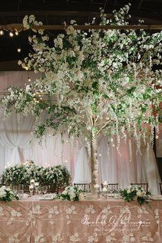 Wedding at Palais Royale Decor-Toronto-Wisteria-Trees by Rachel A. Clingen Photo by @mangostudios