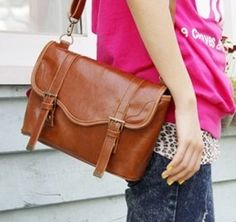 New Classic Vintage Casual Brown $49.99 . #fashion #women #bags