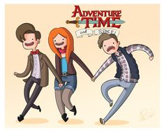 Doctor Who Adventure Time Fan Art http://geekxgirls.com/article.php?ID=2781