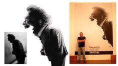 Víctor Humareda, pintor expresionista peruano.Caricatura sacada a partir de una célebre foto del fotógrafo peruano Herman Schwarz, pieza central de mi exposición en la Casona de San Marcos de la ciudad de Lima, el pasado abril del 2013.