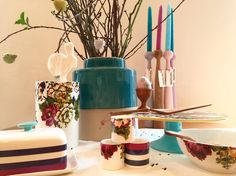 Lovable #Joules #dish Collection #flowers #spring #colors perfect for #Easter #table decoration, Check the vase 25,00€ at https://www.goodshaus.com/Vase-Blumen-Joules