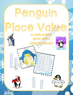 Penguin Place Value from Pride and Primary on TeachersNotebook.com -  (7 pages)  - This cute little penguin activity is designed to give students extra practice with identifying place value - matching base 10 blocks with standard form.