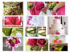 Pink and Green Wedding Themes