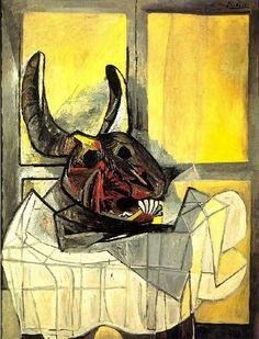 Pablo Picasso. Tête de taureau sur une table. 1942