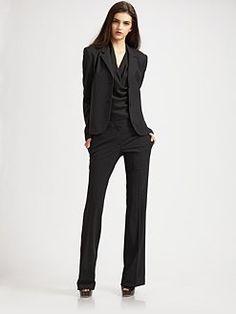 black pant suit - Pi Pants