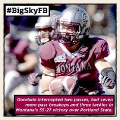 Oct. 7 - @Montana Grizzlies' Anthony Goodwin is your ROOT SPORTS #BigSkyFB Defensive Player of the Week. #GoGriz