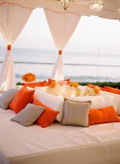beach , furniture, lounge, orange, red, white, Spring, Summer, modern , Los Angeles, California