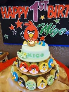 Of Wedding Cakes, Sweets and more...in Ipoh, Perak.: Angry Birds Birthday Bash at Tower Regency, Ipoh