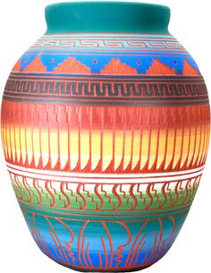 Navajo water jar. Sgraffito decoration.