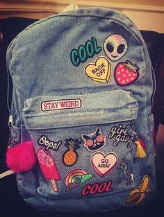 Stay Weird Patchwork Backpack by RichAtHeartCo on Etsy
