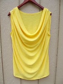 Morning by Morning Productions: Draping - A Tutorial of Sorts This is exactly. Morning by Morning Productions: Draping – A Tutorial of Sorts This is exactly the tank top I h Sewing Patterns Free, Clothing Patterns, Free Sewing, Diy Clothing, Sewing Clothes, Clothes Refashion, Sewing Hacks, Sewing Tutorials, Sewing Projects