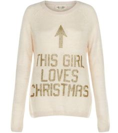 """Make is clear you're excited for the festive season with this slogan Christmas jumper.- 'This Girl Loves Christmas' printed front- Rounded neckline- Simple long sleeves- Casual fit- Soft knitted fabric- Model is 5'8""""/176cm and wears UK 10/EU 38/US 6"""