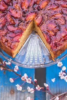 Spiced Plum Upside-Down Cake