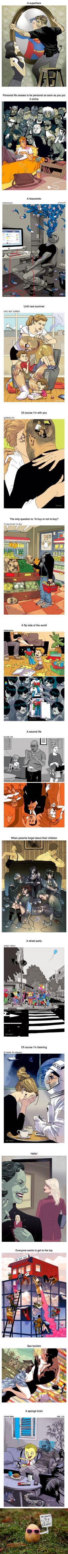 15 biting illustrations that uncover all the ills of the world (Credit: Asaf Hanuka)