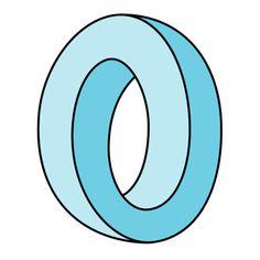 Výsledek obrázku pro o letter Doodle Fonts, Doodle Lettering, Typography Letters, Optical Illusions For Kids, Impossible Shapes, Graffiti, Design Art, Graphic Design, Logo Design