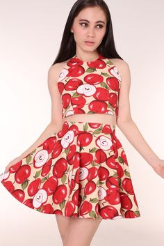 Image of Made To Order - Apple Halter 2 Piece Set