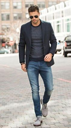 Casual Office Outfits Mens to Look Cool at Work - Outfit Styles Mens Smart Casual Outfits, Business Casual Outfits, Men Casual, Casual Attire, Casual Styles, Dress Casual, Mens Smart Boots, Smart Casual Menswear Summer, Business Casual For Men
