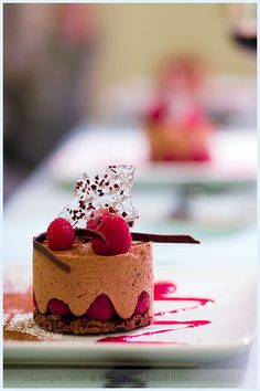 Chocolate Mousse, Raspberry and Croustillant