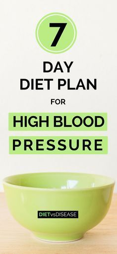Have you been diagnosed with high blood pressure (hypertension)? Looking for a sample meal plan to follow… one that you can follow right now? The 7-Day Diet Plan For High Blood Pressure is a Dietitian-made plan to help make life easier (and more delicious) when learning what you should and should not eat with hypertension. See it here: www.dietvsdisease.org/diet-plan-high-blood-pressure/