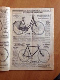 Herrmann Klaassen Lyra Alter Fahrradkatalog Prenzlau Vorkrieg Ersatzteile RAR   eBay
