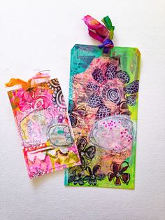 Rae Missigman -  When the sweet people over at the amazing Gelli Arts® offered to send me some of there cool new mini printing plates I was elated!