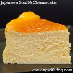 Japanese Soufflé Cheesecake Aka Cotton Cheesecake using meringue is fluffy and moist and it is very popular. It is known as Souffle Cheesecake or Cotton Cheesecake. Cheese lovers should definitely try this recipe!Japanese Soufflé Cheesecake by Easy Cake Recipes, Sweet Recipes, Baking Recipes, Dessert Recipes, Baking Desserts, Dinner Recipes, Just Desserts, Delicious Desserts, Yummy Food