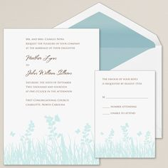 Butterfly Kisses Wedding Invitation | #exclusivelyweddings