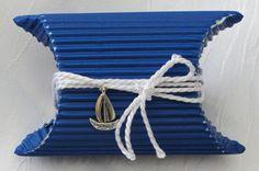 Geschenkkartons - Maritime Kissenschachtel handgefertigt - ein Designerstück von mARgriTs-Atelier bei DaWanda