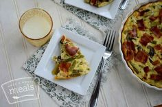 Cook and freeze this asparagus and bacon quiche.