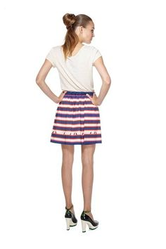 Fabulous nautical skirt from Marc by Marc Jacobs (Flavin Stripe Skirt)